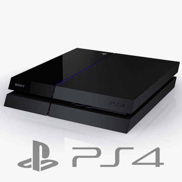 sony playstation 4 console c4d