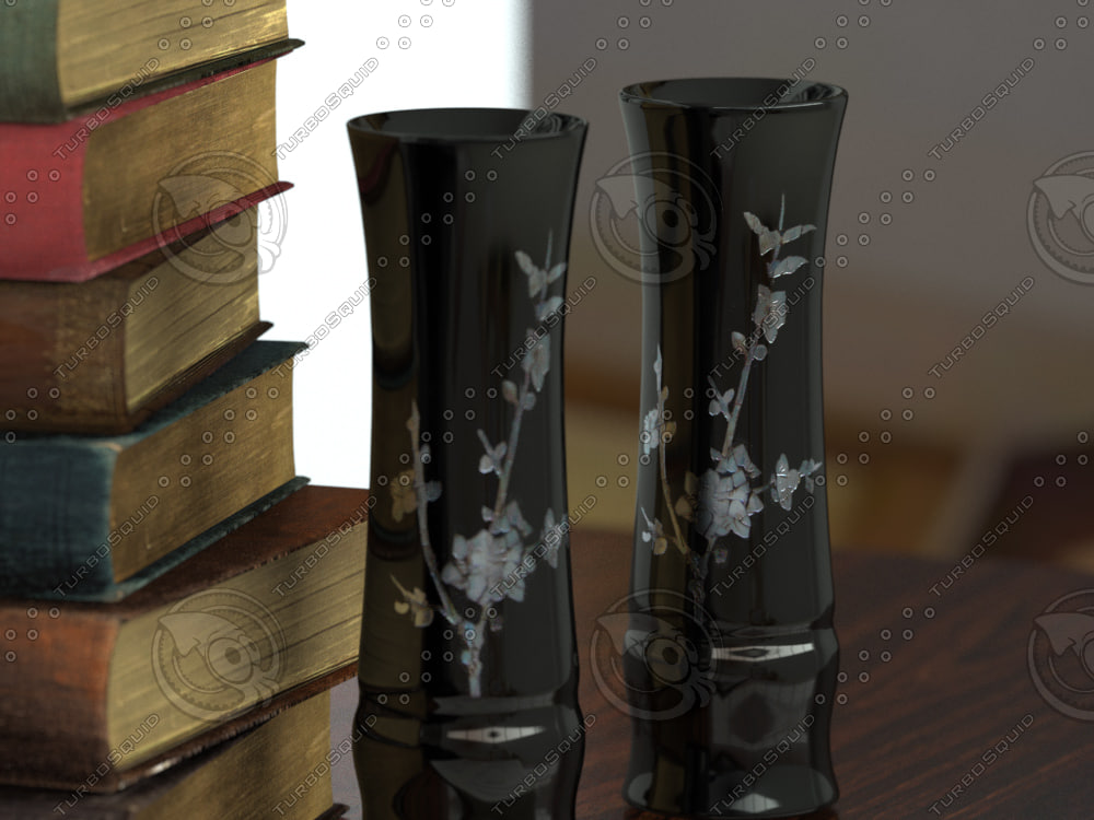 3d model vase pearl incrustation