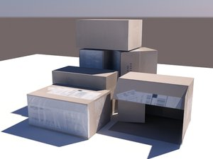 3d model shipping box
