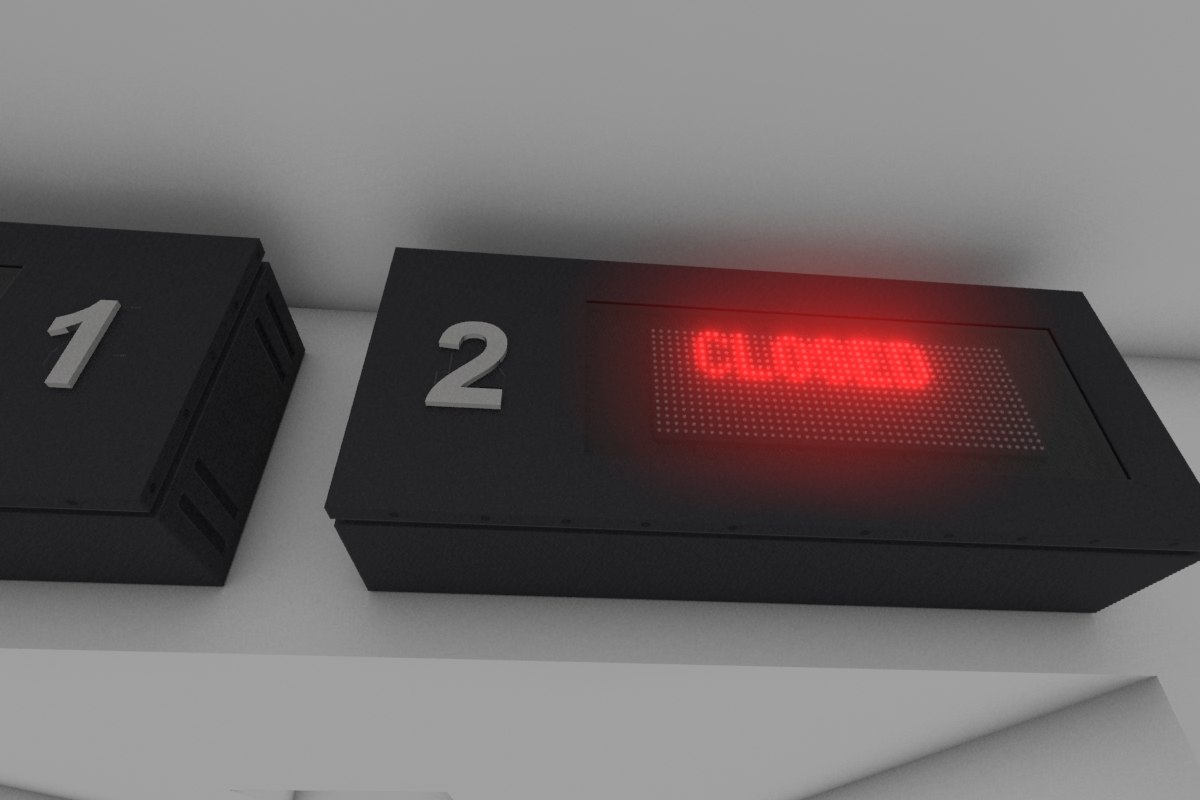 3d model led display board