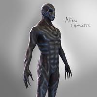 alien character obj