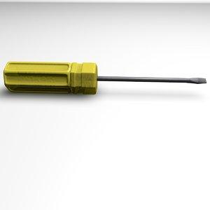 free screwdriver 3d model
