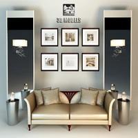 3d modern furniture set christopher