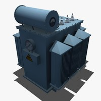 3d oil-immersed power transformer model