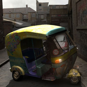 3d tuk animation model