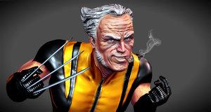 3d model wolverine old man