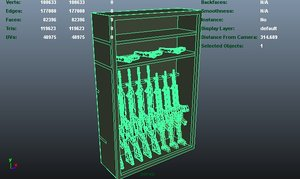 weapons rack 3d ma