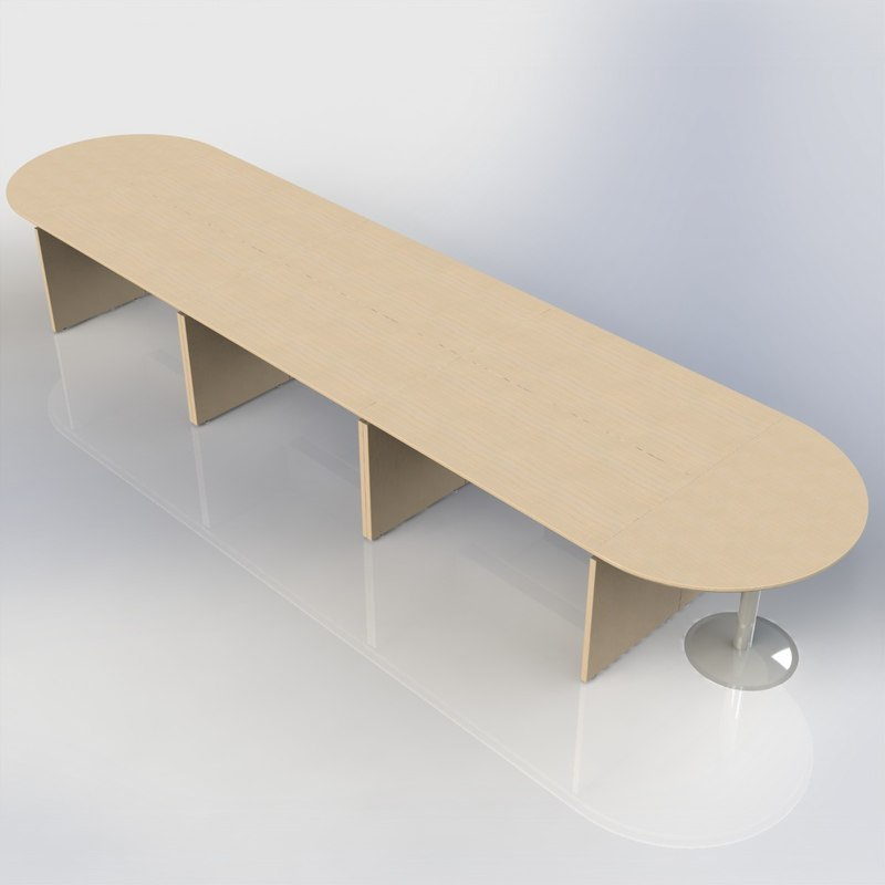 3d office conference table model