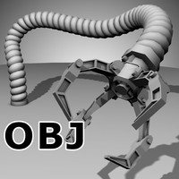 Robot Mechanic Arm (OBJ) - (style three)