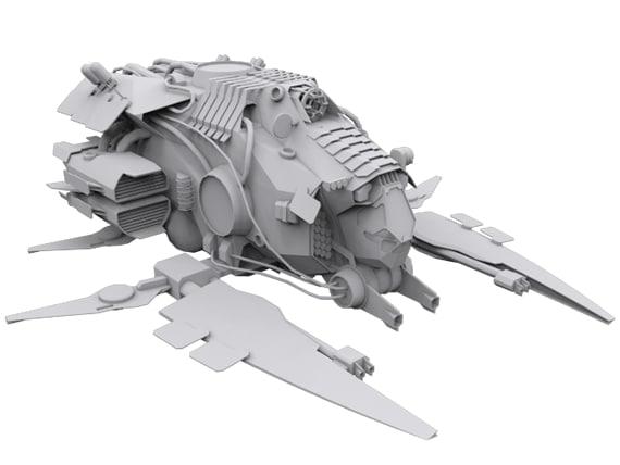 ships modular 3d obj