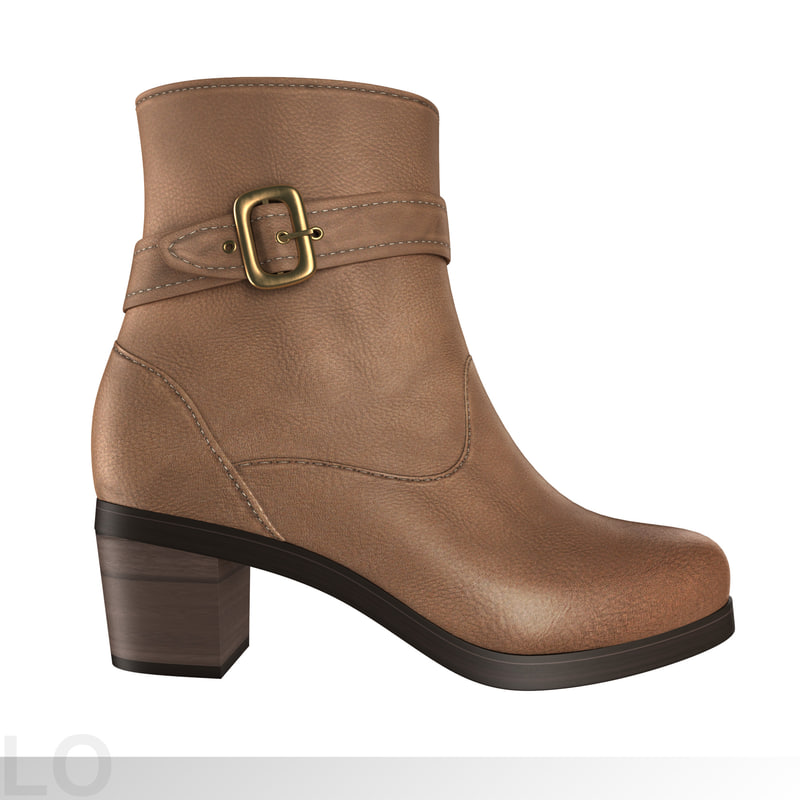 3ds max women boots