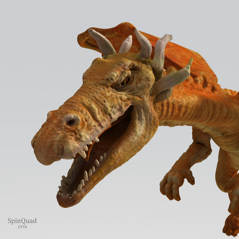 dragon lizard 3d lwo