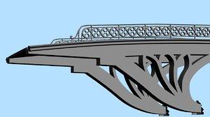 central gothic bridge 3d model