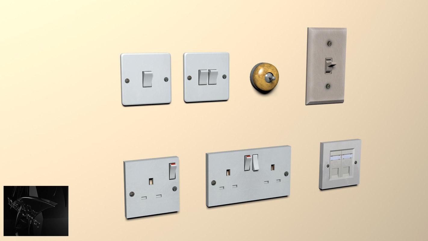maya package light switches plug