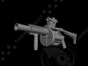 3ds max milkor grenade launcher