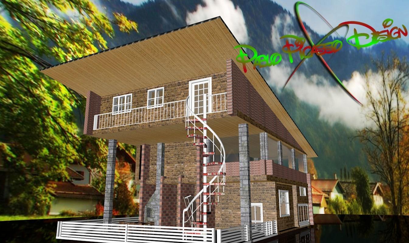 3d model house villa
