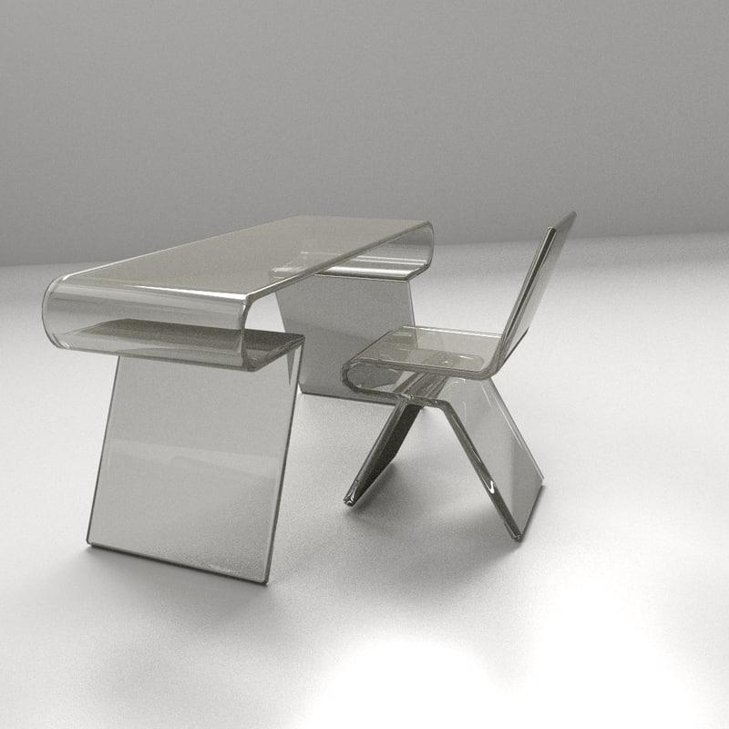 modern chair 2 3d 3ds