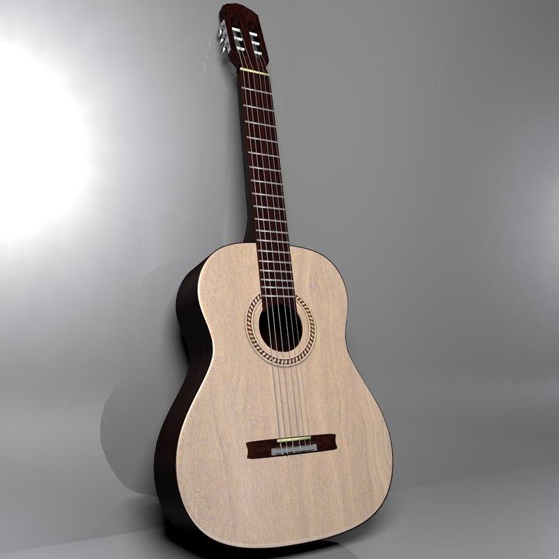 3d al guitar model