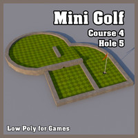 Low Poly Mini Golf Hole C4H5