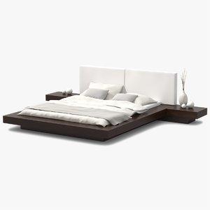 platform bed 3d 3ds