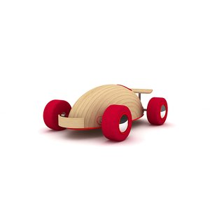 wooden toy car 3d max