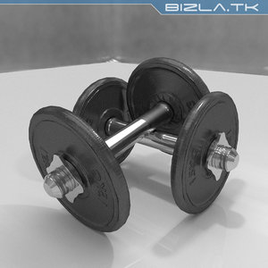 3d dumbell cast iron