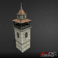 Eastern Medieval Tower (LP Game Ready)