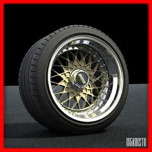 3d model bbs rs wheel