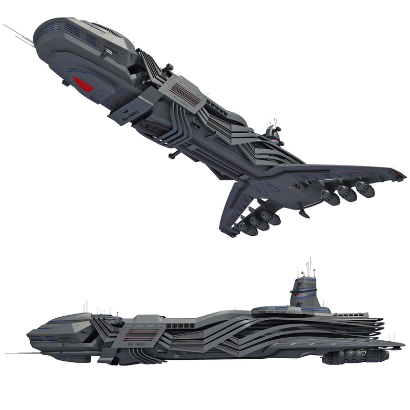 spaceship mothership 3d model