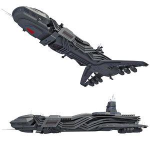 spaceship mothership 3d model