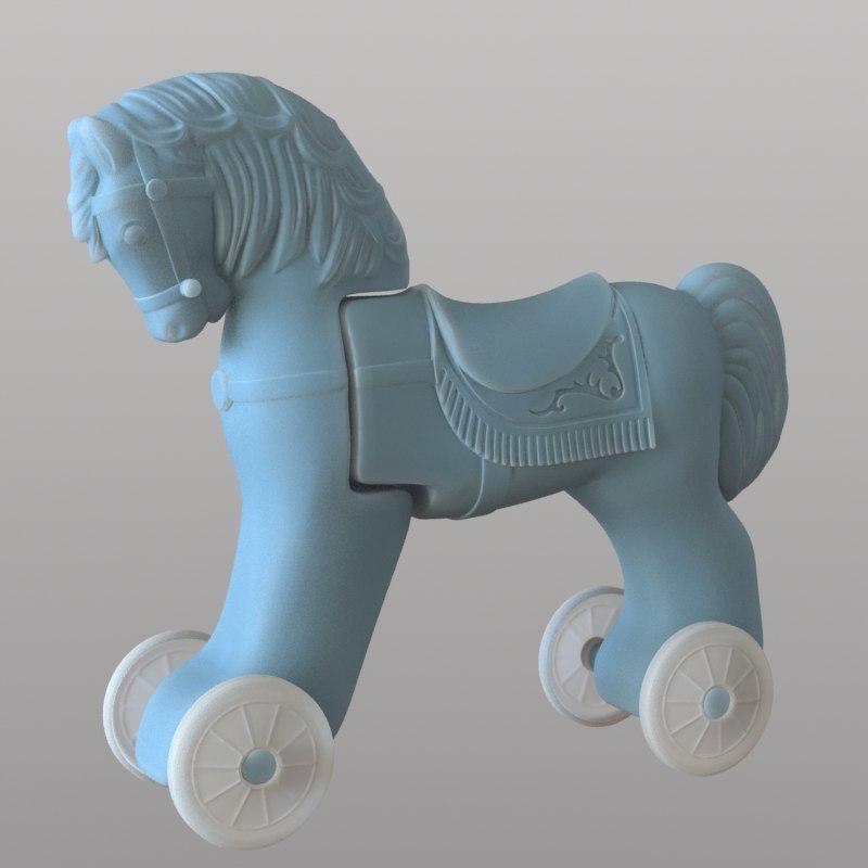 3d horse toy