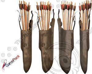 arrow quiver 3d model