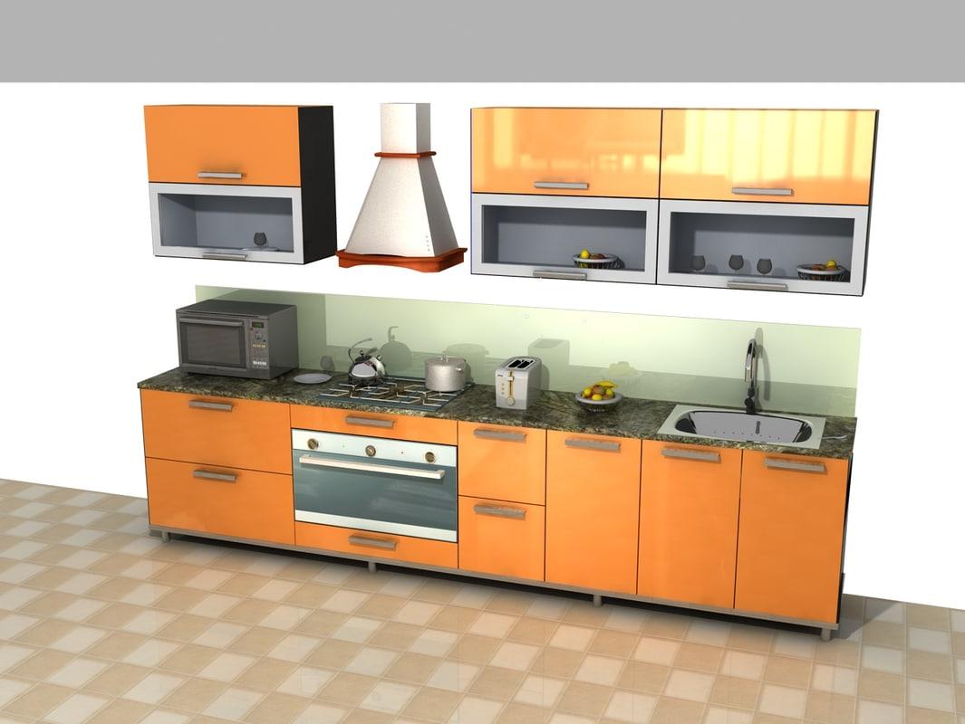3d variations kitchens model