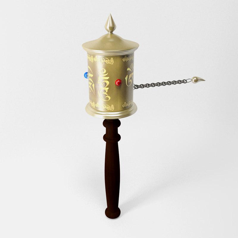 3d model prayer wheel