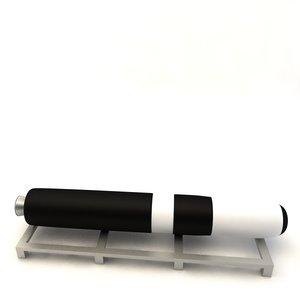 3d ugm-133 trident ii missile model