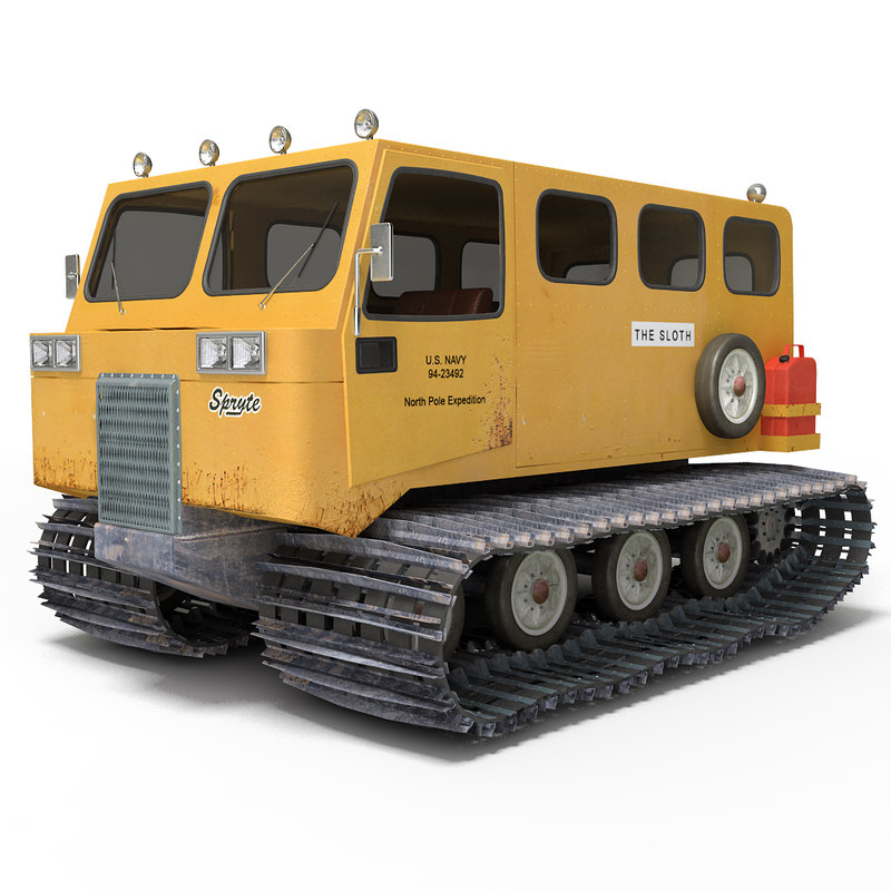 snowcat snow thiokol 3d model