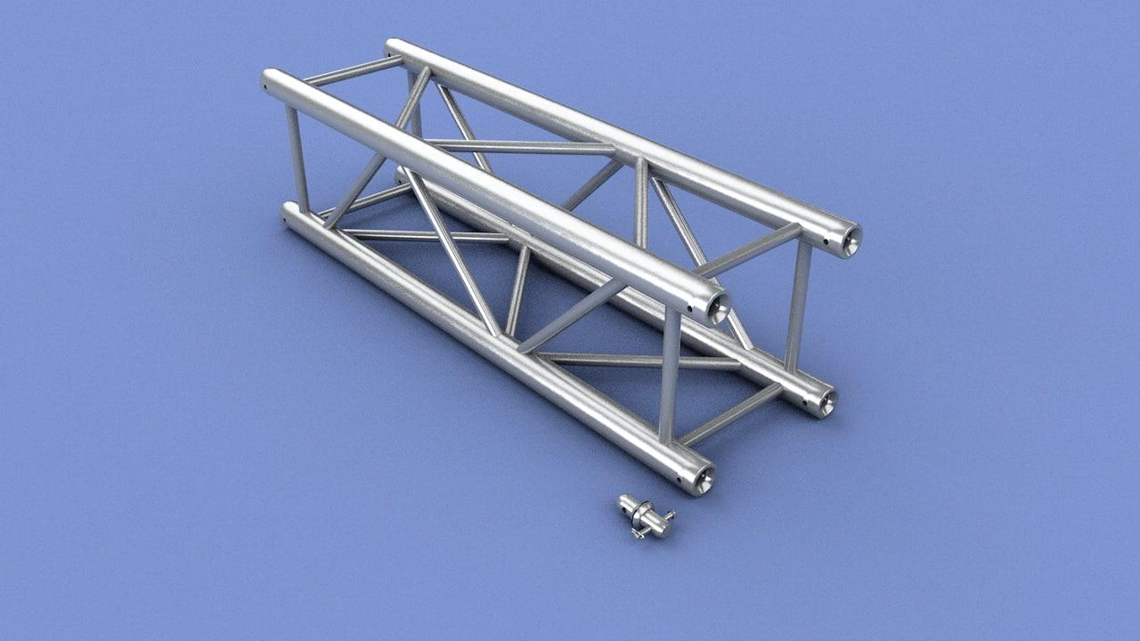 3ds max truss 1 meter