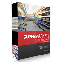 3ds max volume 32 supermarket market