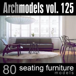 archmodels vol 125 seating 3d model