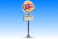 obj burger king sign