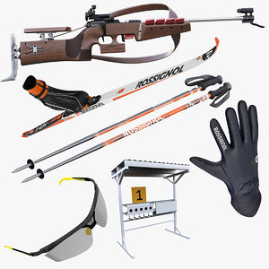 3ds max biathlon equipment