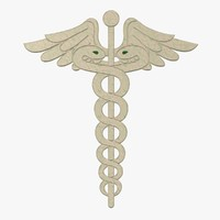 3d model caduceus fg