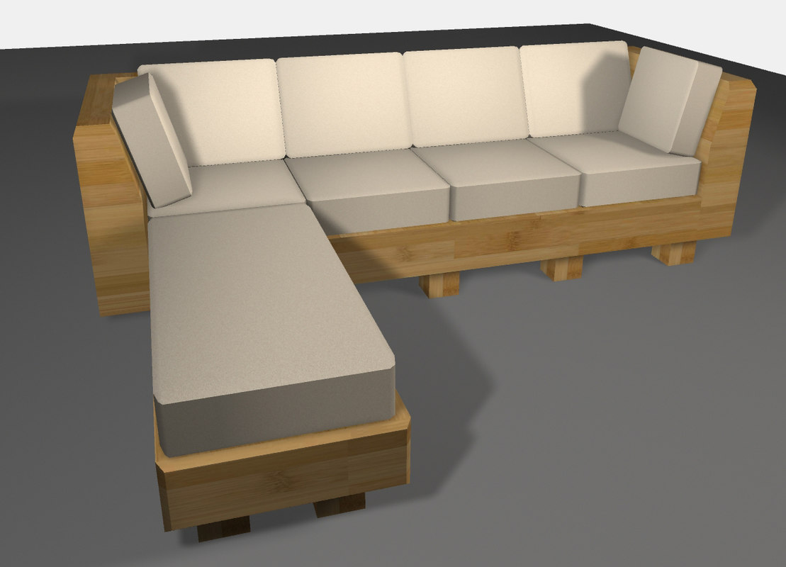 Uncategorized Bamboo Couch sofa couch obj couch