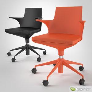 spoon chair kartell 3d max