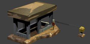 free guard house 3d model