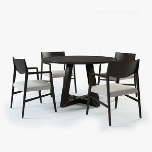 natuzzi brera chair harlem 3d model