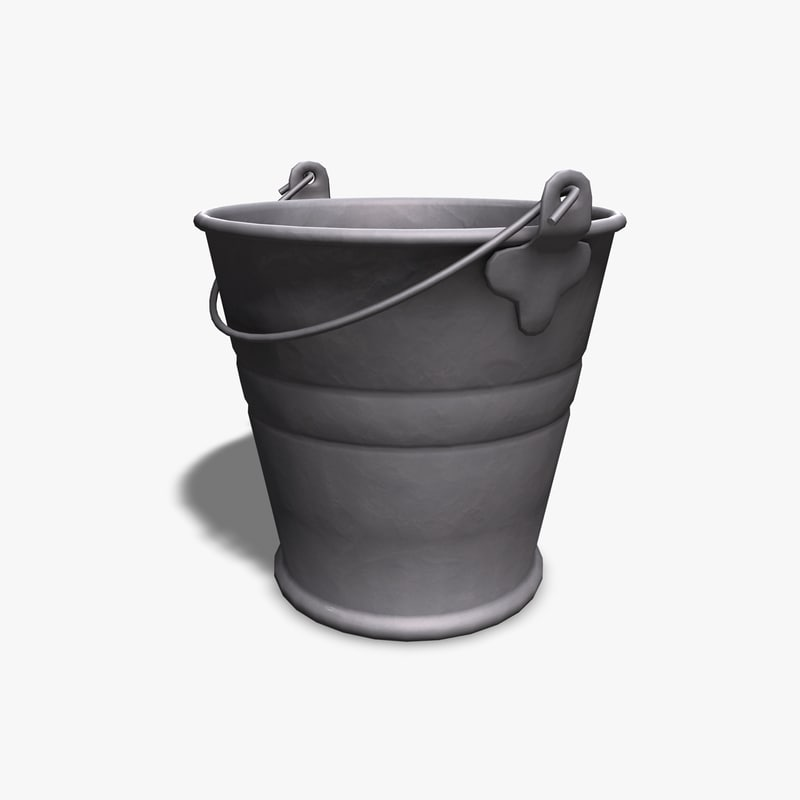 metal bucket 3d 3ds