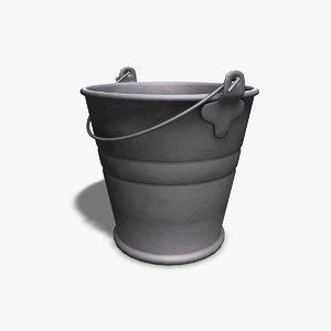 metal bucket 3d 3ds