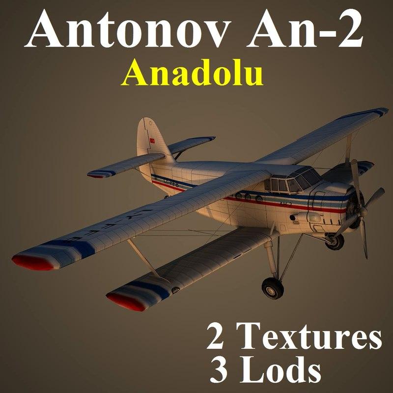 antonov 2 biplane aircraft max