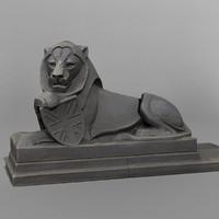 3d ready lion model